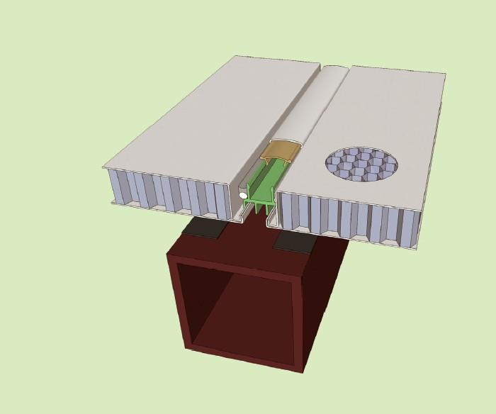 隐胶缝幕墙系统