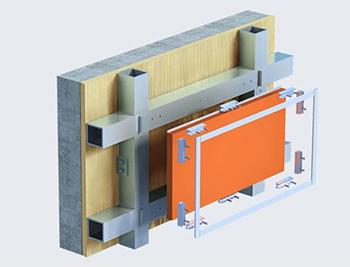 铝蜂窝板安装实物图